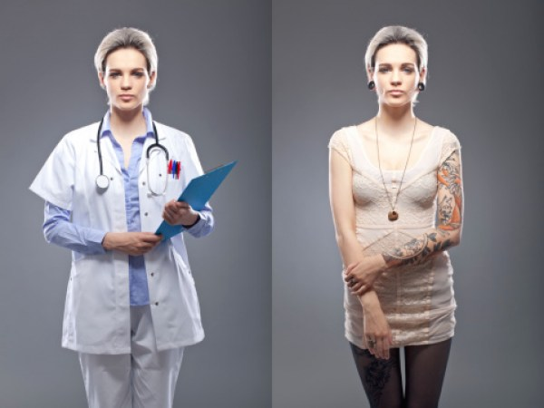 healthcare professionals with tattoos